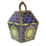 Eid Mubarak/Ramadan Gift & Treat Celebration Boxes - Blue & Yellow Heart Design Box