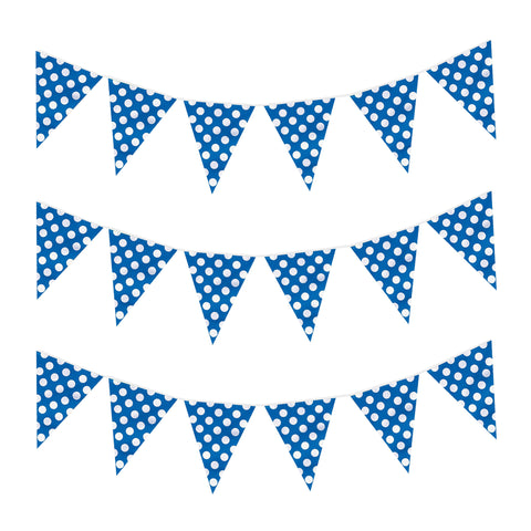 Blue Polka Dot Eid & Ramadan Celebration Bunting