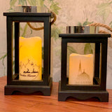 Wooden Artificial Mosque Candle Decoration - Medium