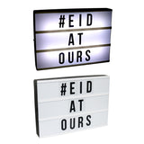 Cinematic LED Light Box Eid Message Board