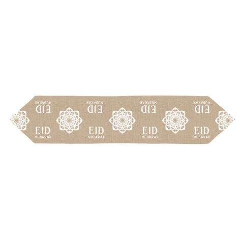 Eid Mubarak Flower Hessian Table Runner - 1.5m