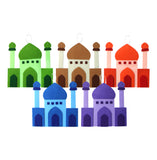 Set of 5 Multicolour Felt Mosques Ramadan & Eid Hanging / Bunting Decorations