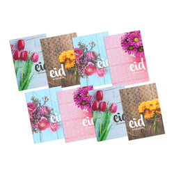 Pack of 8 Mini Floral Botanic Eid Mubarak Cards