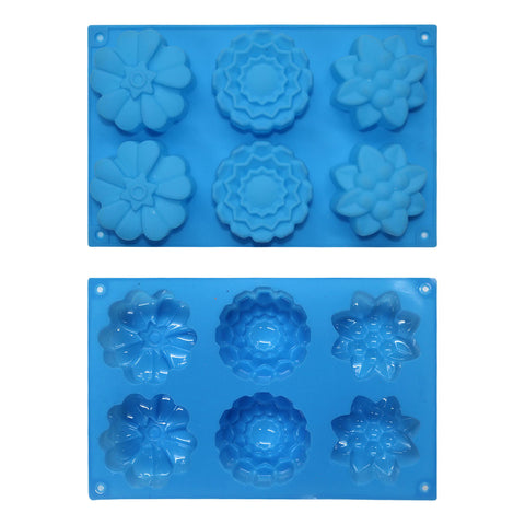Large Eid Chocolate / Ice Mould - Assorted Flowers