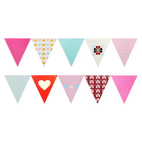 Girls 13 Flag Assorted Bright & Colourful Eid Paper Bunting Decoration