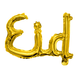 Gold 'Eid' Joined Foil Letter Balloon (55x32cm)