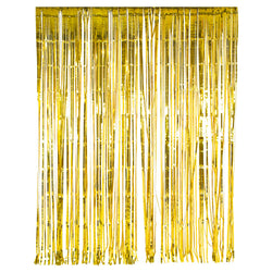 Metallic Gold Foil Tinsel Curtain Backdrop Decoration