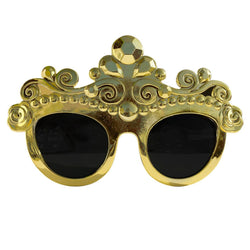 Gold Princess Novelty Fancy Dress Glasses