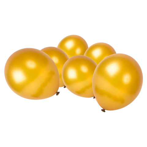 Metallic Gold Latex Eid Party Balloons (20 Pack)