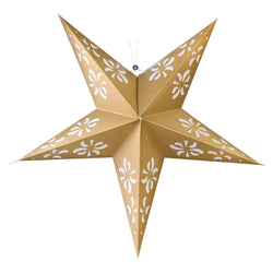 Large Gold Paper Hanging Star Eid & Ramadan Decoration