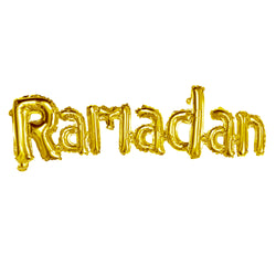 Gold 'Ramadan' Joined Foil Letter Balloon (132x32cm)