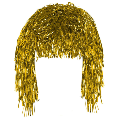 Gold Tinsel Eid Party Dress Up Wig