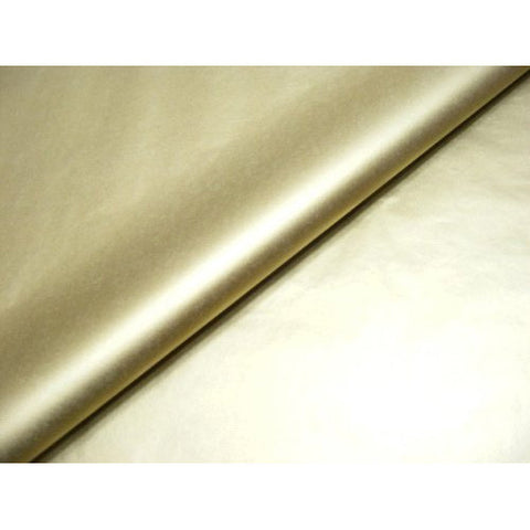 Metallic Gold Tissue Wrapping Paper - 75 x 50cm (10 Pack)