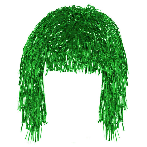Green Tinsel Eid Party Dress Up Wig