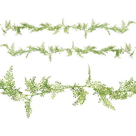 Twin Pack of 1.7m Glitter Leaf Garland Eid & Ramadan Decoration (Green)