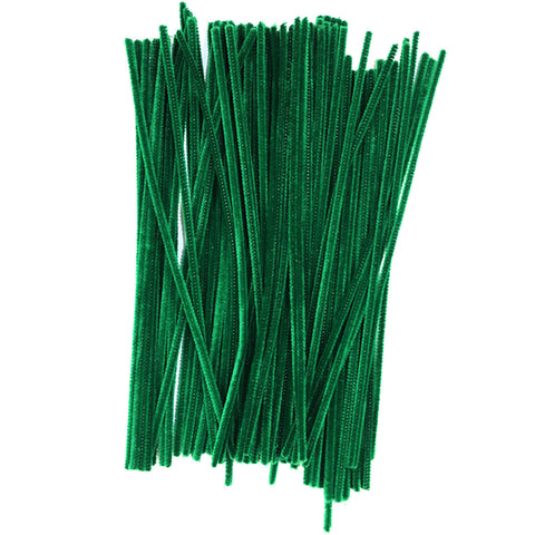 Pack of 100 Green Eid Arts & Craft Pipe Cleaners