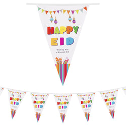 Happy Eid 'Wishing You a Blessed Eid' White Bunting