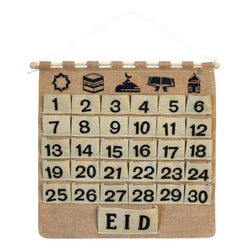 Rustic Shabby Chic Hessian Ramadan Advent Calendar