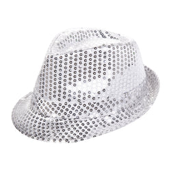 Silver Sequin Fedora Eid Party Dress Up Hat