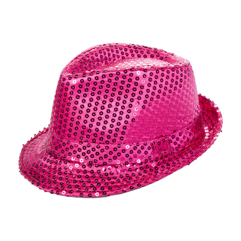 Pink Sequin Fedora Eid Party Dress Up Hat