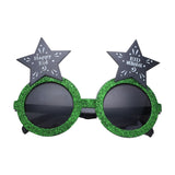 'Happy Eid' Green Glitter Novelty Glasses