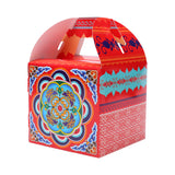 Pack of 6 Red Floral Pattern Eid Celebration Square Gift Favour Box