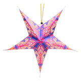 Pack of 4 Multicolour Large Paper Hanging Star Eid Decoration