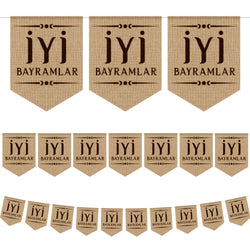 İyi Bayramlar Turkish Hessian Eid Bunting - 2 meters