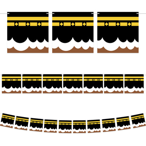 Kaaba Square Card Bunting - 2 meters