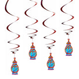 Pack of 4 Spiral Lantern Eid Mubarak Hanging Mobile Decorations