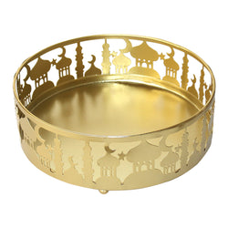 Large (21cm) Gold Metal Eid Mubarak Ramadan Cut Out Cake / Treat Tins