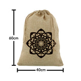 Medium Islamic Geometric Flower Hessian Eid Gift Sack (60x40cm)