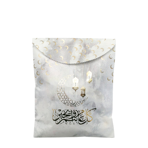 Pack of 12 White Marble Money & Sweets Paper Party Bags