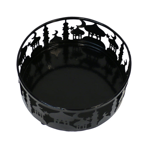 Medium (15cm) Black Metal Eid Mubarak Ramadan Cut Out Cake / Treat Tins