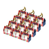 Blue & Red Eid/Ramadan Crescent Moon Gift / Food Boxes (12 Pack)