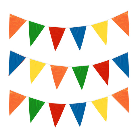 Plain Multicolour Plastic Eid Party Bunting