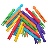 Pack of 12 Multicolour Wooden Eid Arts & Crafts Dolly Pegs