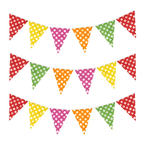 Multicolour Polka Dot Eid & Ramadan Celebration Bunting