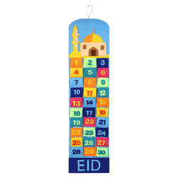 Multicolour Mosque Felt Ramadan Advent Calendar