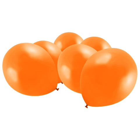 Metallic Orange Latex Eid Party Balloons (20 Pack)