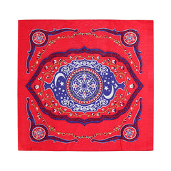Red Ornate Floral Eid Party Paper Napkins (20 Pack)