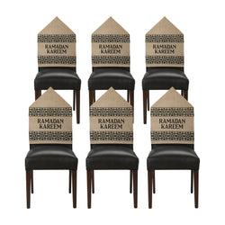 Pack of 6 Ramadan Kareem Hessian Chair Covers