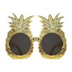 Gold Pineapple Novelty Fancy Dress Glasses