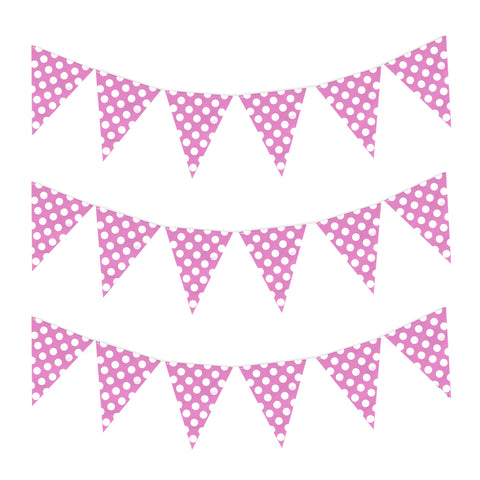 Pink Polka Dot Eid & Ramadan Celebration Bunting