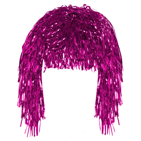 Pink Tinsel Eid Party Dress Up Wig