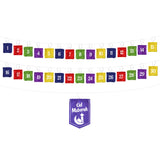 Set of 3 Felt Ramadan Calendars (Blue, Green & Bunting Multicolour)