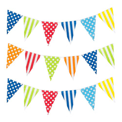 Multicolour Polka Dot & Stripe Eid & Ramadan Celebration Bunting