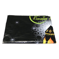 Black & Green 'Ramadan Kareem' Eid Party Plastic Table Cover