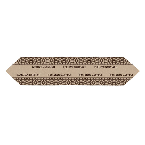 Ramadan Kareem Geometric Hessian Table Runner - 1.5m