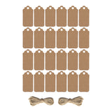 Pack of 24 Plain Rustic Eid Gift Labels with Twine